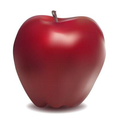 Sweet Tasty Apple auf weißem Hintergrund