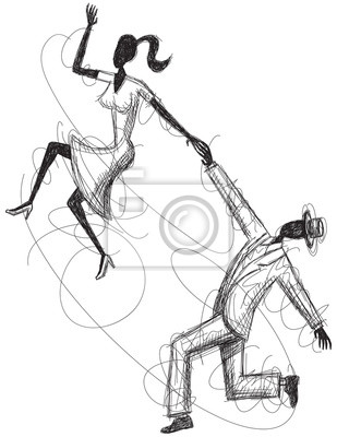 Swing Paar Sketch