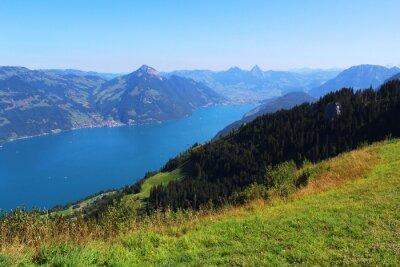 Fototapete  Switzerland, mountain and lake