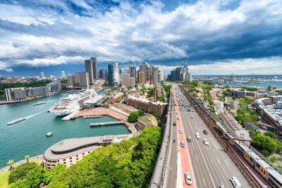 Fototapete SYDNEY - 7. NOVEMBER 2015: Panoramablick auf die Stadt. Sydney zieht an