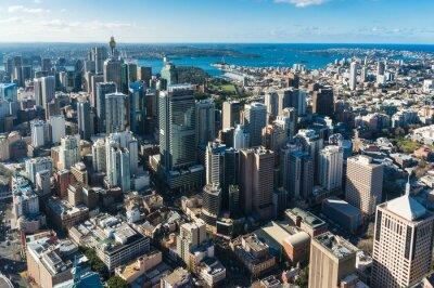 Fototapete Sydney Central Geschäftsviertel aus der Luft