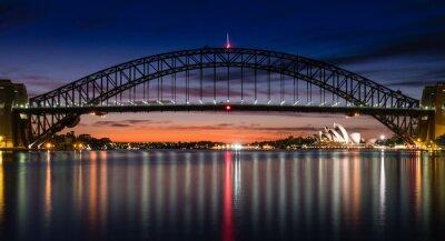 Fototapete Sydney Hafen an der Dämmerung