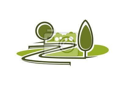 Symbol des Parks mit Gassen