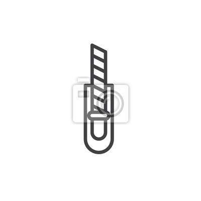 Symbol, logo-darstellung. bearbeitbarer strich fototapete ...