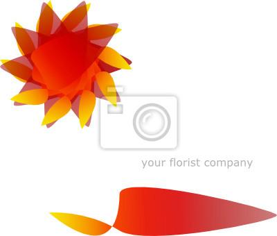 Symbol und homepage-vorlage für floristen fototapete • fototapeten ...