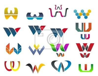 Symbole des Buchstaben W