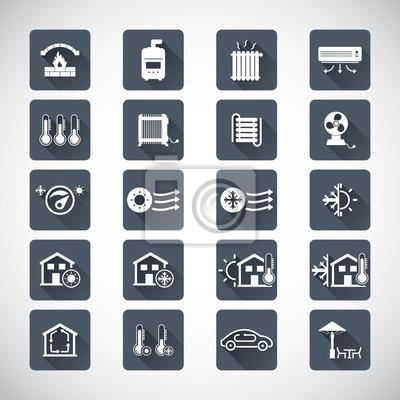Symbole für heizung und kühlung fototapete • fototapeten Klimaanlage ...