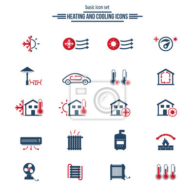 Symbole für heizung und kühlung fototapete • fototapeten Klimagerät ...