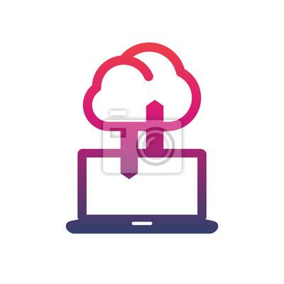 Synchronisierung mit cloud-symbol, daten-upload, verbindung ...