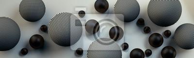 Fototapete Szare kule 3D na jasnym tle