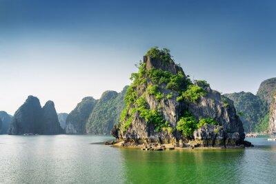 Fototapete Szenische Ansicht der Ha Long Bay, das Südchinesische Meer, Vietnam