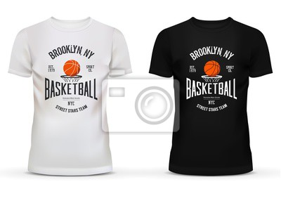super popular b4b3d 28784 Fototapete: T-shirt baumwolle sportbekleidung mit basketball-thema.  erwachsene