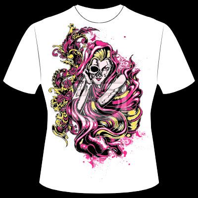 sale retailer b976c ea217 Fototapete: T-shirt druck mädchen