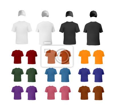 T0shirt und baseball-kappe vorlagen fototapete • fototapeten ...