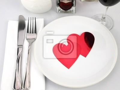 Tabelle für romantische Mahlzeit