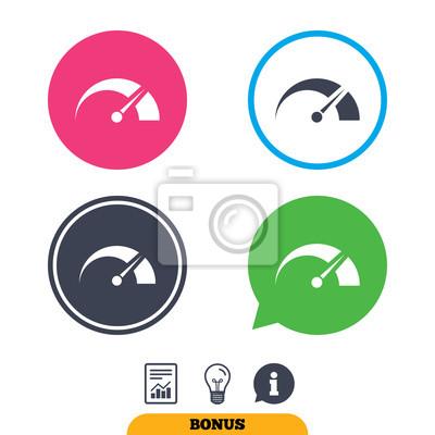 Tachometer Zeichen Symbol Drehzahlmesser Symbol Geschwindigkeit