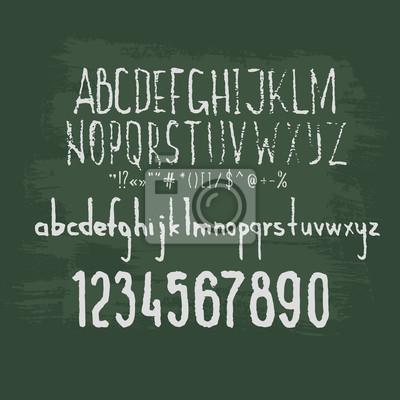 Tafel, Alphabet, Zahlen