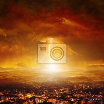 Tag Des Jüngsten Gerichts Ende Der Welt Fototapete Fototapeten