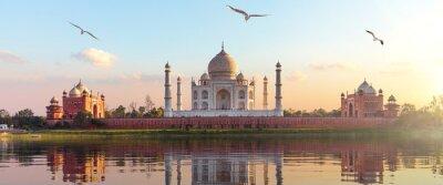 Fototapete Taj Mahal sunrise panorama, Agra, Uttar Pradesh, India
