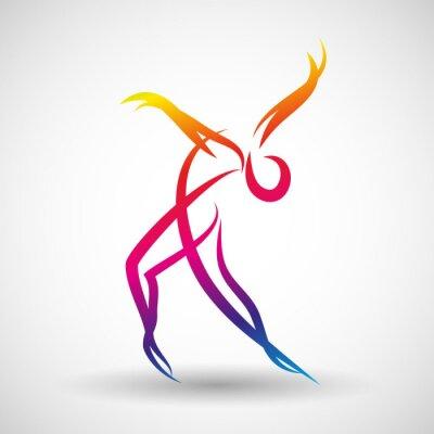 Fototapete Taniec logo wektor