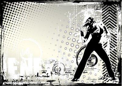 Tanz grungy Hintergrund