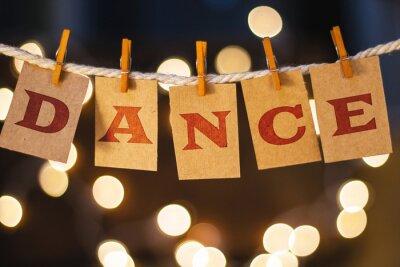 Fototapete Tanz Konzept Clipped Karten und Lichter