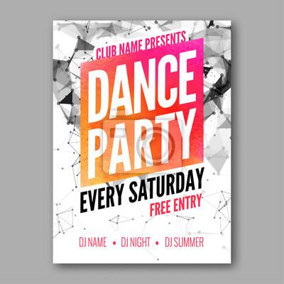 Party Flyer   Tanz Party Plakat Schablone Nacht Tanz Party Flyer Dj Session