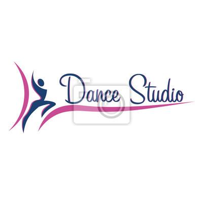 Tanzlogo, abzeichen und emblem. frau tanzen. tanz-studio-logo-design ...