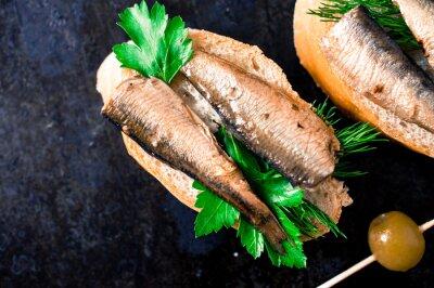 Fototapete Tapas mit Fisch