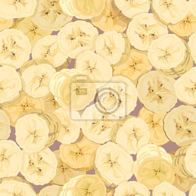 Tapete der geschnittenen Bananen