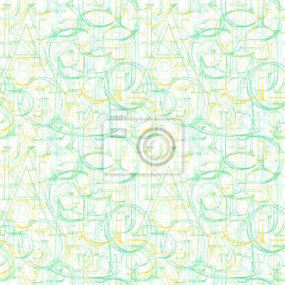 Tapete nahtlose Muster mit modernen römischen klassischen Alphabet