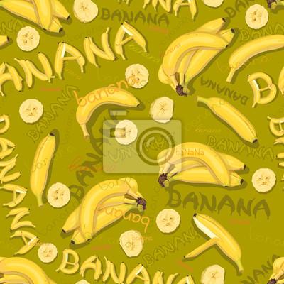 Tapeten von Bananen und Briefe