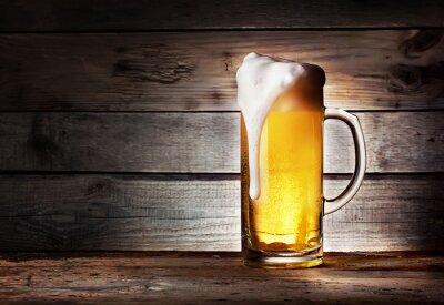 Fototapete Tasse helles Bier mit Schaum
