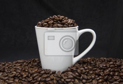 Tasse Kaffee-Bohnen
