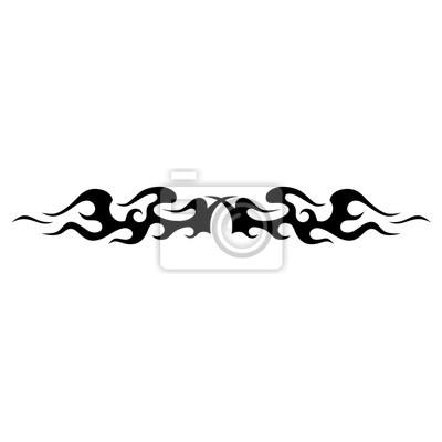 Tätowierungentwurf Schablone Muster Zusammenfassung Schwarz Weiß
