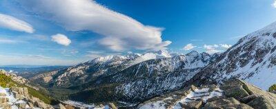 Fototapete Tatra Berge witch schöne Wolken