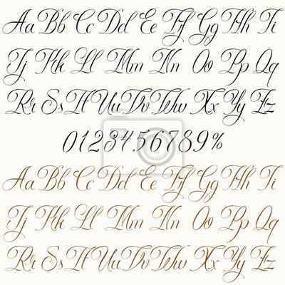 Tattoo Font Fototapete Fototapeten Grossbuchstaben Schriftart