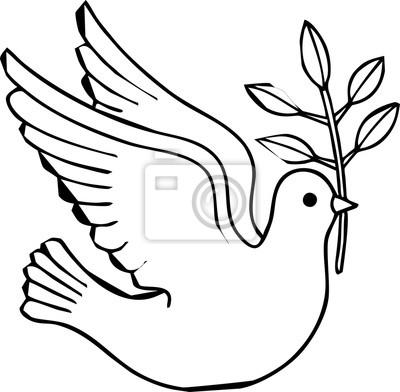 Taube bringen ein Blatt