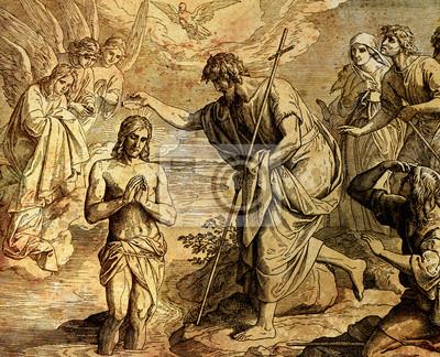 Taufe Von Jesus Christus Durch Johannes Der Täufer