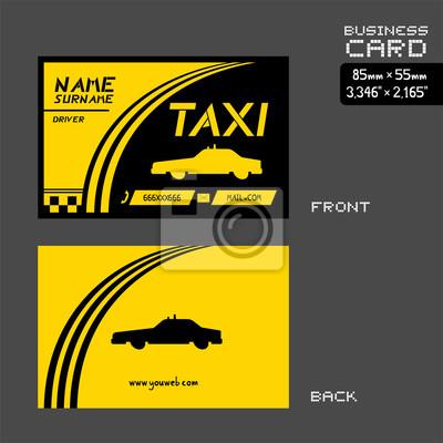 Fototapete Taxi Visitenkarte