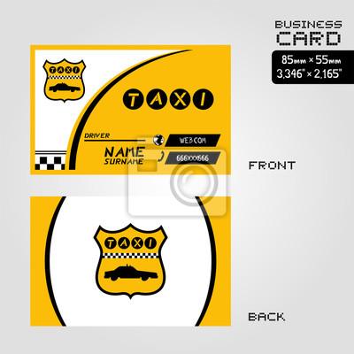 Taxi Visitenkarte Fototapete Fototapeten Unternehmen