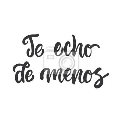 ich vermisse spanisch