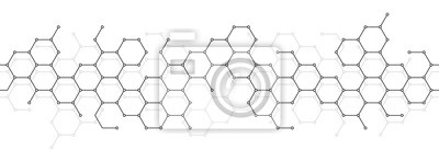 Fototapete Technical honeycomb background