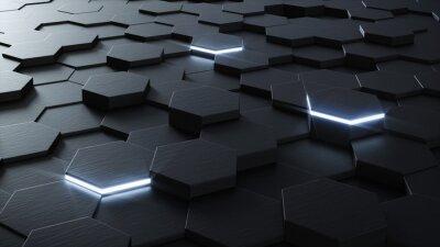 Fototapete Technische 3D-sechseckigen Hintergrund-Design