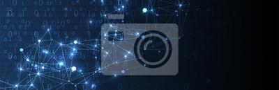 Fototapete Technology background. Big data concept. Vector illustration.