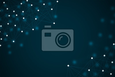 Fototapete Technology background tech abstract network