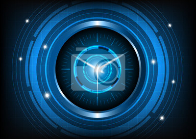 Technonlogy Zusammenfassung Und Innovation Zeit Maschine Fototapete