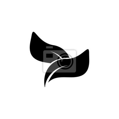 Teeblätter-symbol. spa-symbol. element entspannung und ruhe-symbol ...