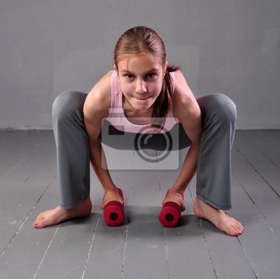 Mädchen muskel Die Muskel