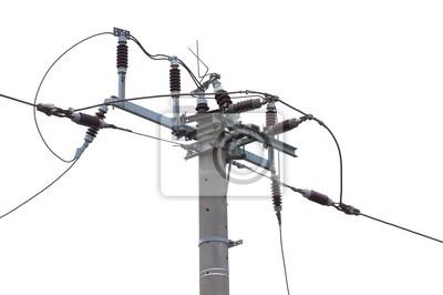 Teil der Stromversorgungsleitung von Schienen